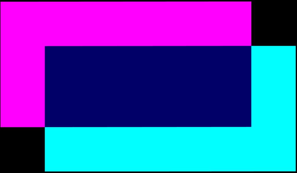 Zusammenschluss beider Farbflächen zum finalen talsand-Logo